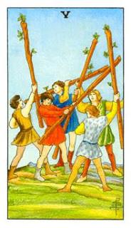 5 de Paus como Arcano do Dia