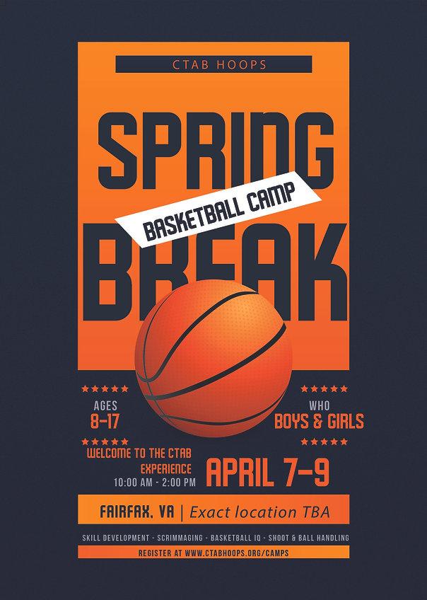 CTAB Spring Basketball Camp 2020 Flyer   springfield, alexandria va