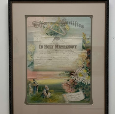 1923 Marriage Certificate