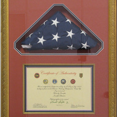 Folded Flag and Certificate