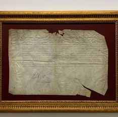 1683 Parchment Signed by King Louis XIV