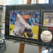 Ventura Signed Baseball, Photo and Card