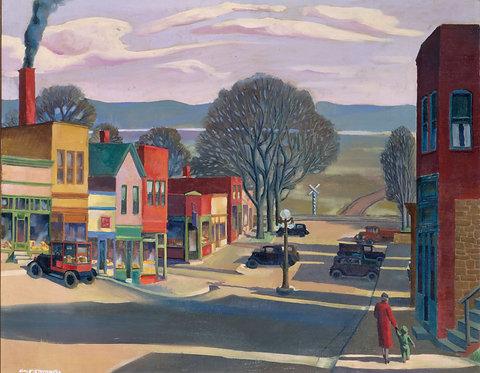 Main Street Parkville MO 1933 16x20