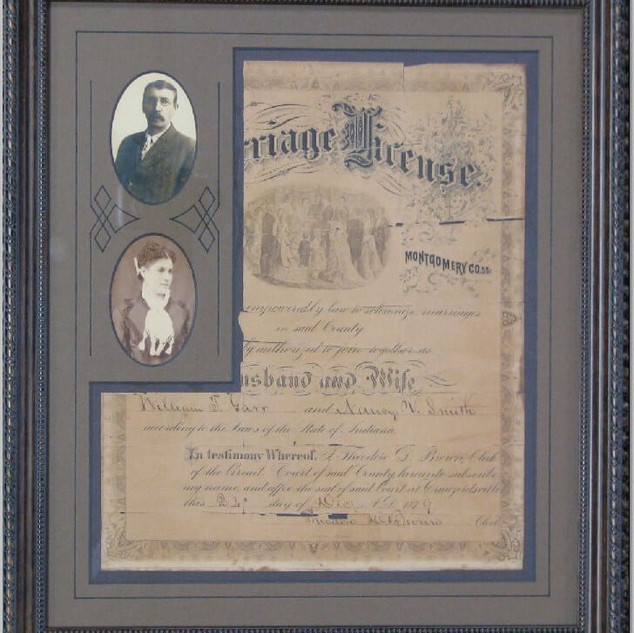 1879 Marriage Certificate