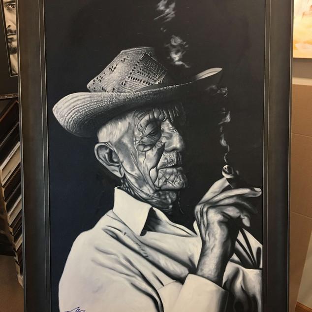 Cuban Smoking a Cuban