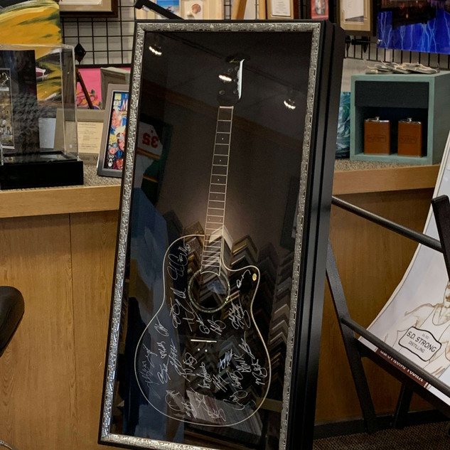 Country Stars Signed Guitar