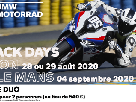 OFFRE DUO - TRACK DAYS 2020