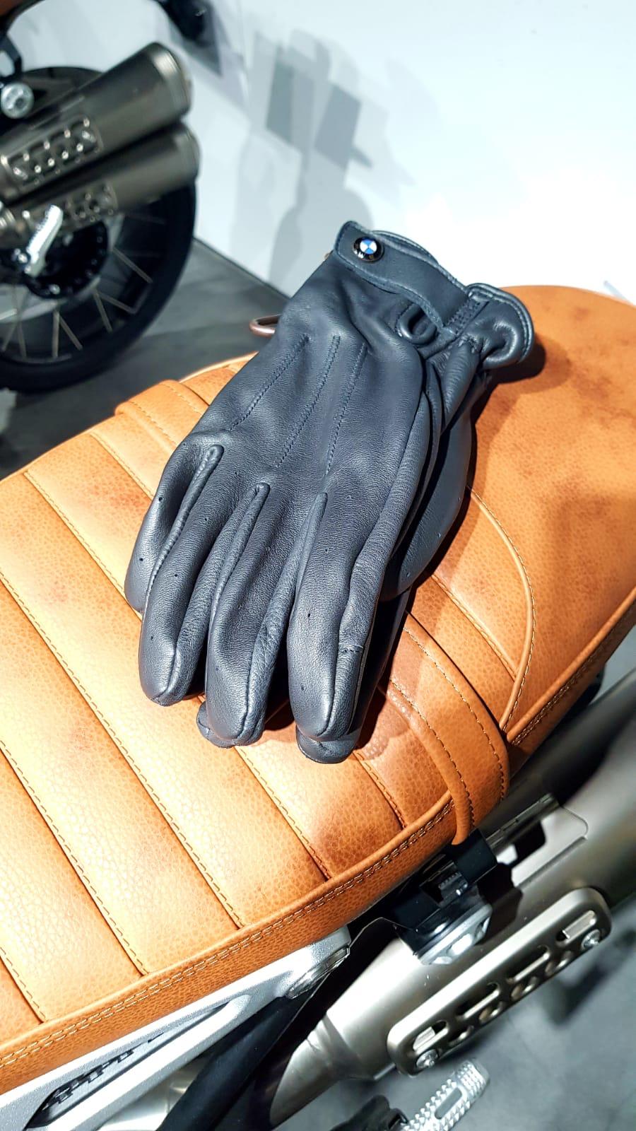 Gants en cuir noir BMW