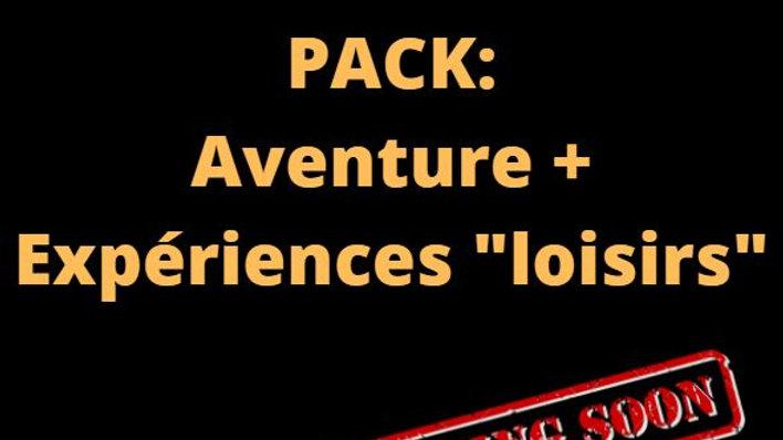 """PACK 1: Expériences """"Loisirs"""" + L'aventure du Professeur Fawkes"""