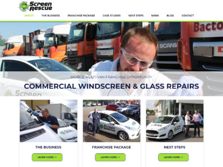 Screen Rescue launch new franchisee-friendly website.