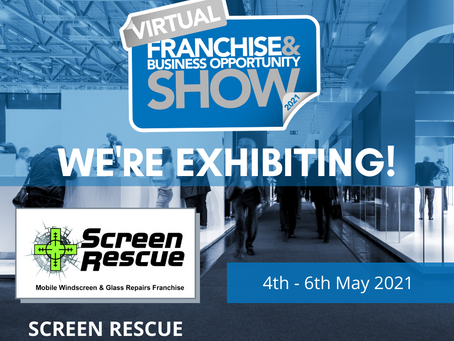 We are exhibiting! Visit us and learn more about becoming a Screen Rescue franchisee.