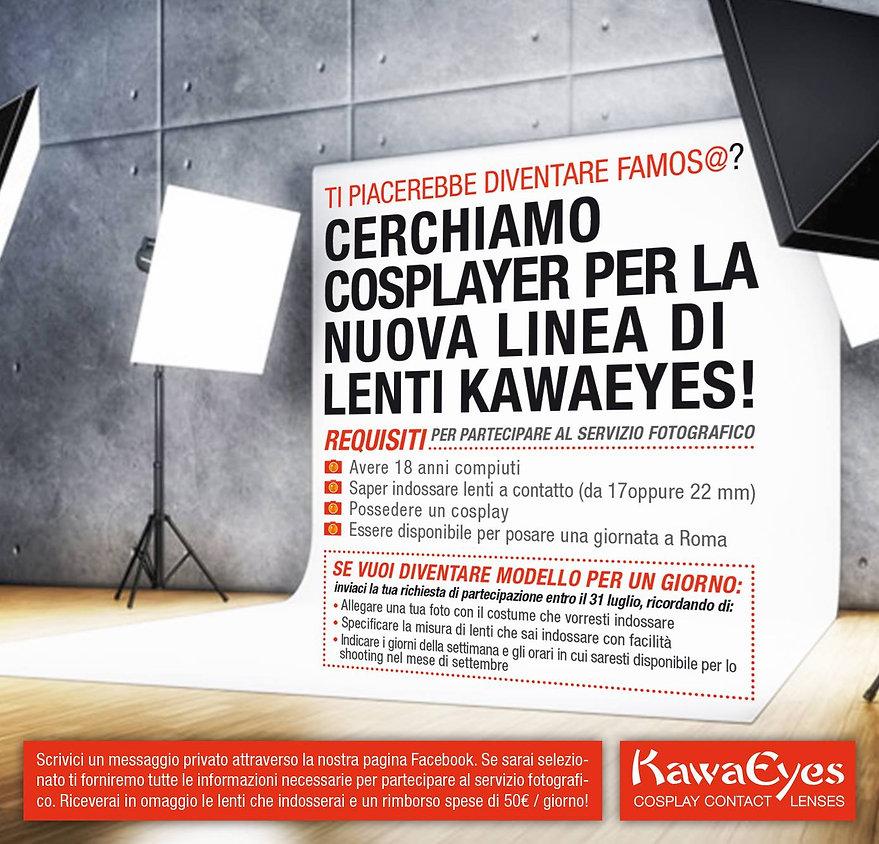 concorso posatori cosplay lenti a contatto kawaeyes