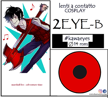 marshall lee lenti a contatto cosplay rosse