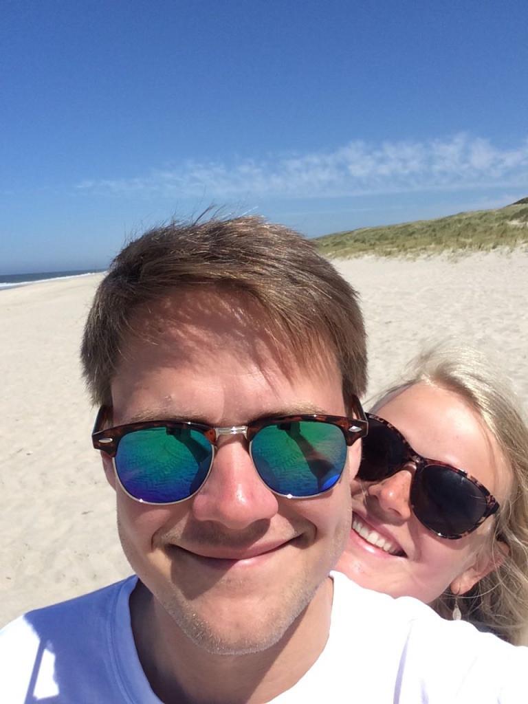 Mein Freund und ich am Strand auf Sylt