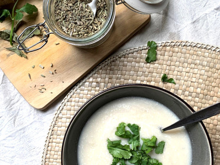 Cauliflower and coconut soup - May soup of the Month