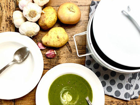 Curried spinach and potato soup