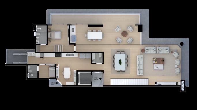 Duplex - Pavimento Inferior