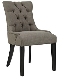 Gray upholstered dining