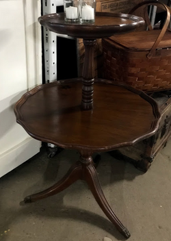 brown-two-tier-piecrust-table