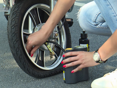 How to use squeezed bottle sealant to repair tire puncture? Demo the use of EasyRider