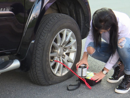 Demo the ResQ Max Tire Repair Kit that use alligator clips for power connection