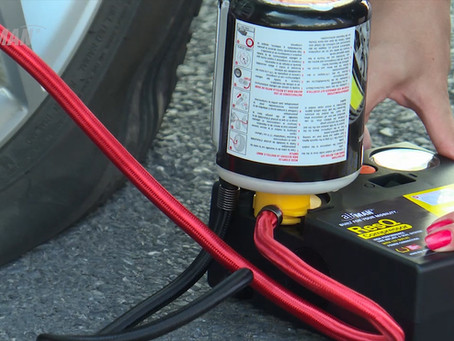 How to use a tire repair kit? Demo AirMan® ResQ TRK  two-pieces-system