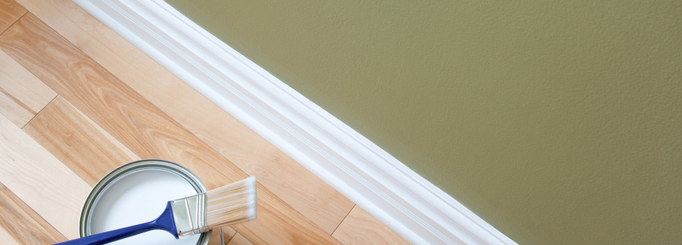 Painting and wooden flooring