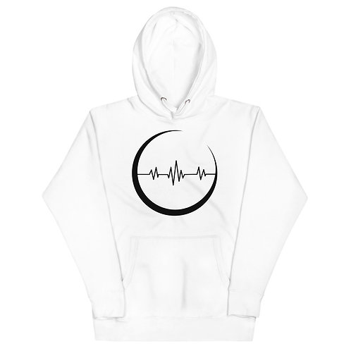 The Crescent - white Moon Pulse hoodie