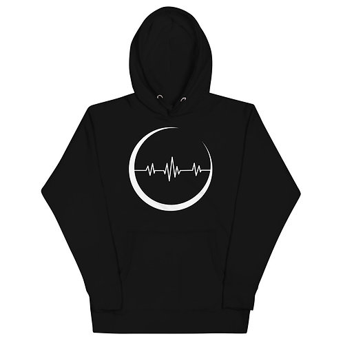 The Crescent - black Moon Pulse hoodie