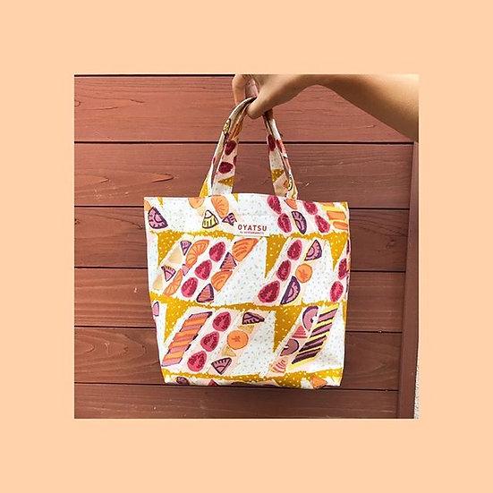 OYATSU by ACOSAKAMOTO Lunch tote bag (reversible) fruits sandwich pink