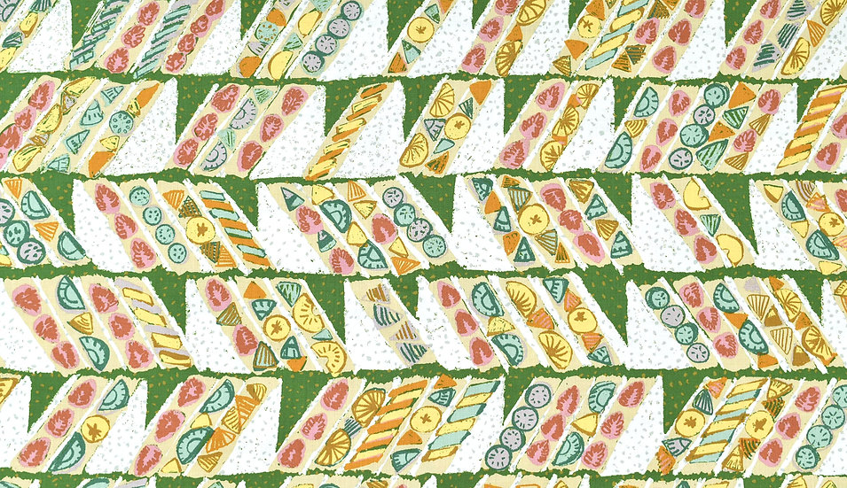 160cm / Fruits sandwich  green (綿/モーリークロス)