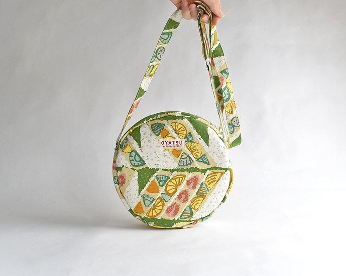 OYATSU by ACOSAKAMOTO circle pochette / Fruits sandwich green