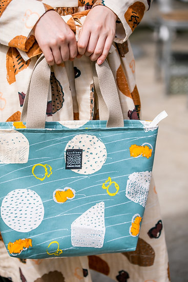 《CHEESE STAND》Fastener tote bag