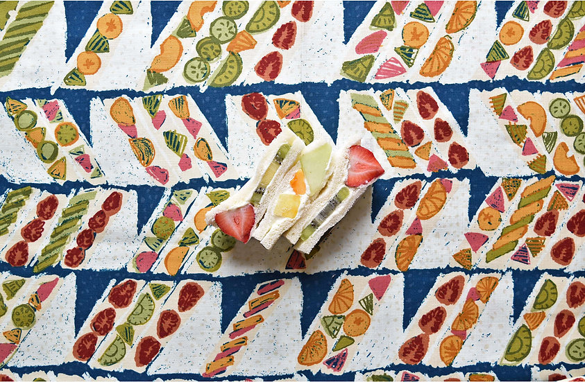 Fruits sandwich (綿/モーリークロス) 10cm