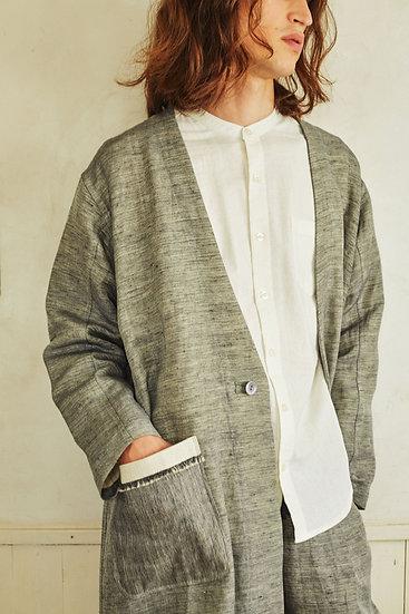 Single collarless coat / 無地 men's