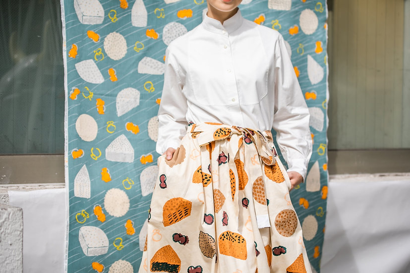 《CHEESE STAND》Skirt (cotton100%)