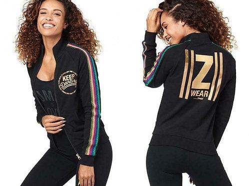 Zumba Keep Dancing Zip-Up Jacket - Bold Black