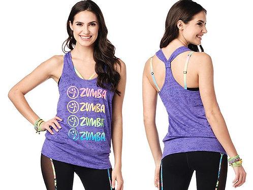 Zumba Fitness Smile Bubble Tank - Purple Pop