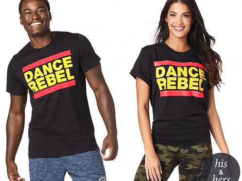 Zumba Dance Rebel Unisex Tee - Bold Black