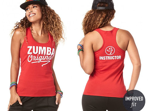 Zumba Original INSTRUCTOR Racerback Tank Top - Viva La Red