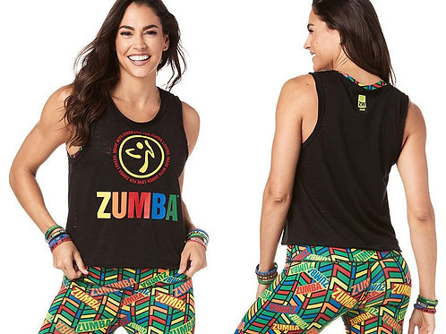 Zumba Made With Love Loose Tank - BOLD BLACK