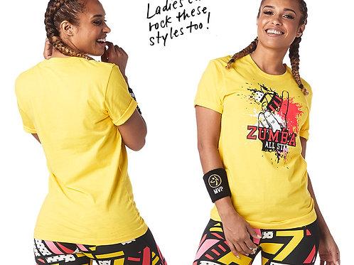 Zumba All Star Unisex Top - Yellow