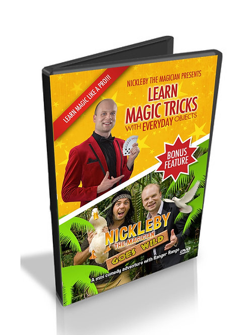Nickleby DVD + Learn amazing magic tricks