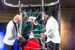 Magician nicklebys stage christmas show