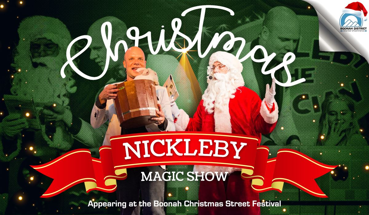 Nickleby magic show Boonah Street Festival