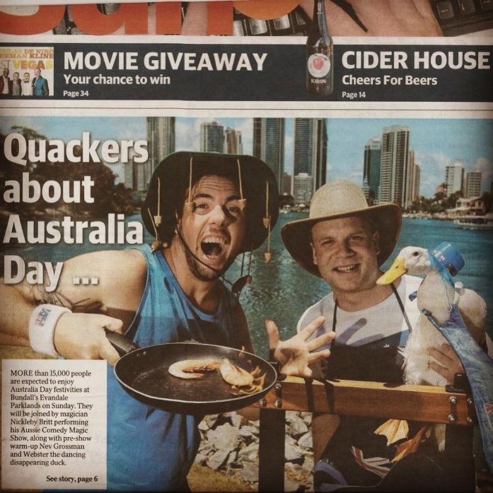 brisbane area magician australia day