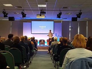 Austen Moore from Signpost Media delivering a seminar on social media management