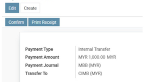 Internal Transfer in the Odoo CE Accounting