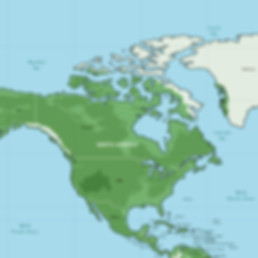 Map of North America and Arctic Circle