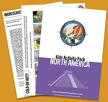 free activity pack on North America
